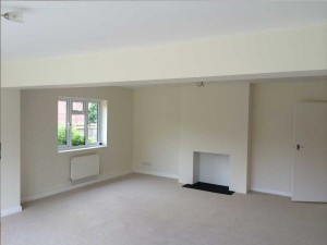 completed dining living area in new rear extension